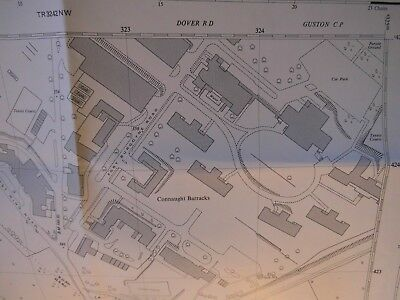 "Connaught Barracks Dover Kent (Now Lost):Os Planner Map 1950-67:Best 50"" Detail"