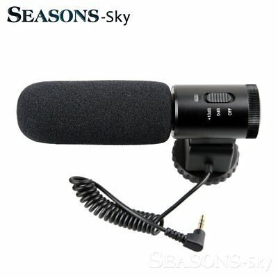 MIC-02 Professional Camera External Stereo Microphone For Nikon D7500 D7200 D810