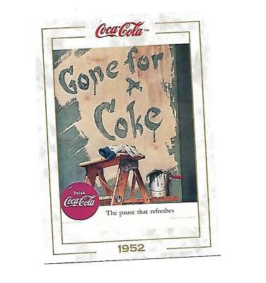 Coca Cola Collection (1993) 1952 # 61 Gone for a Coke Painter Taking a Break