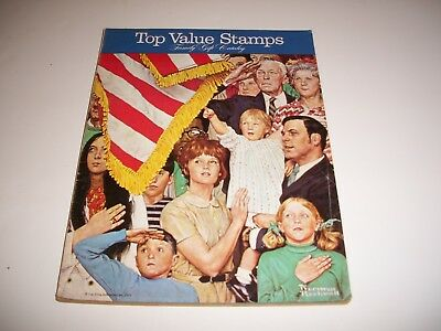 1972 Top Value Stamps Family Gift Catalog Norman Rockwell American Flag