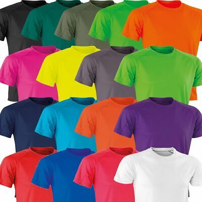 NEW Mens Ladies Breathable Fitness T Shirt - Running Gym Sports Performance Top