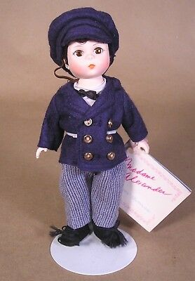 """1986 Madame Alexander 8"""" DOLL LITTLE WOMEN: LAURIE brunette w/stand & hang tag"""
