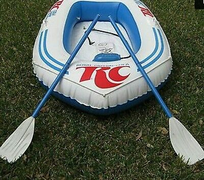 1970's Royal Crown Cola Advertising 2 Man Towable Canvas Raft Oars ~ Rare Find