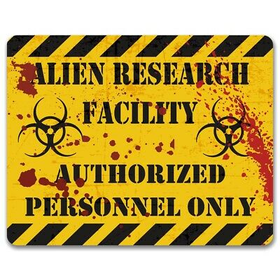 Alien Research Facility Metal Sign | Area 51 | Teenagers Gaming | Man Cave Decor