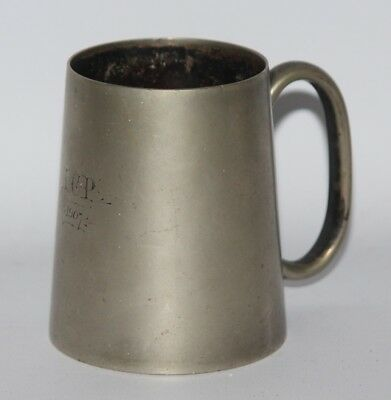EPNS Silver Plated Half Pint Tankard - Monogrammed / Dated 1907