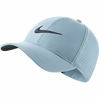 94298d193 NEW 2018 NIKE Aerobill L91 Perforated Statement White Fitted M/L Hat ...