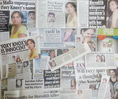 AMANDA KNOX huge clippings collection UK newspapers Foxy Knoxy