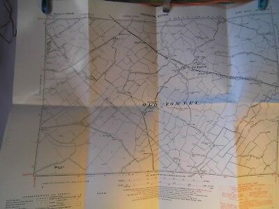 "Old Romney-Rhee Wall-Romney Marsh-Kent Planners Map 1871-1950:6"" To Mile Detail"