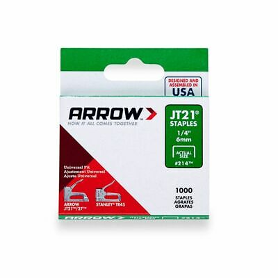 Arrow Staples Jt21 1/4in - 6mm (Box of 1000)