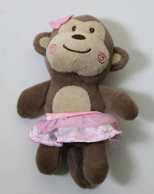 Carters Just One You Ballerina Monkey Plush Rattle Style # j4296