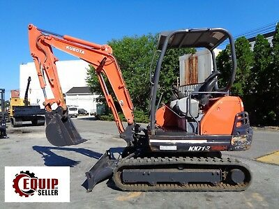 Kubota KX71-3 Mini Excavator Loader Backhoe - Diesel - Low Hours