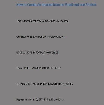 How to make money fast from email and 1 product