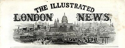 1856 ILLUSTRATED LONDON NEWS Spithead Naval Review NEYLAND RAILWAY WALES (5970)