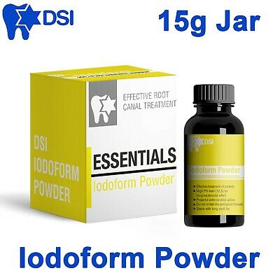 DSI Dental Iodoform Powder for Root Canal Treatment Disinfecting Anesthetic 15g