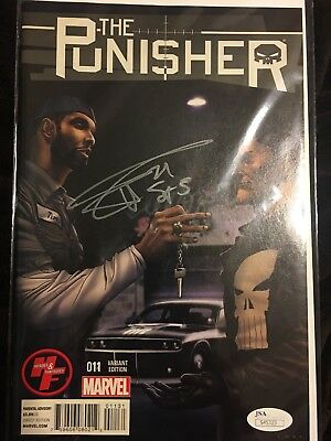 Tim Duncan Comic PUNISHER 11 NBA Spurs Star w/Concept Car Signed Autographed JSA