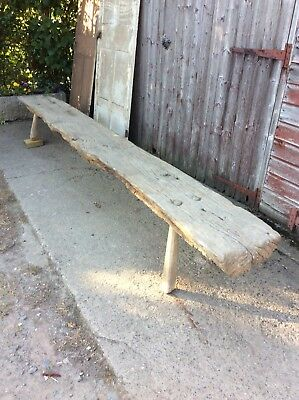 Primitive Antique Vernacular Long Wooden Bench