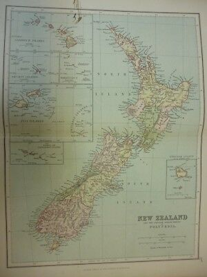 Map of New Zealand and the smaller island-groups of Polynesia. (Nr. 27) from Phi