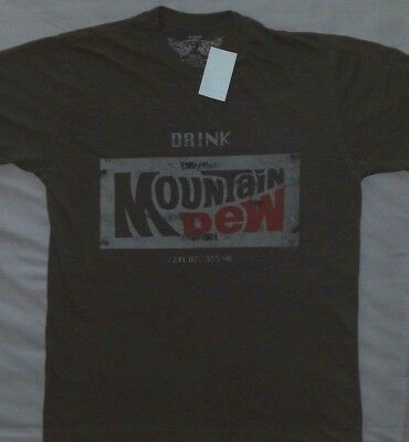 Mountain Dew Weathered Vintage Look T Shirt_ Size Medium_ New with tags