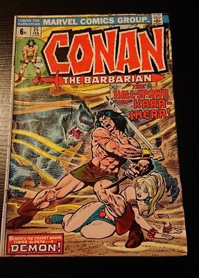 Conan # 35  The Hell-Spawn of Kara-Shera grade 5.5 scarce book !!