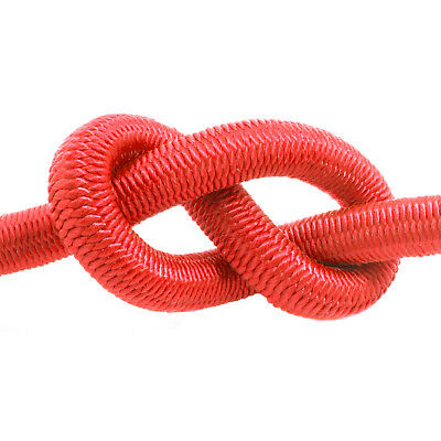 Red Elastic Bungee Rope Shock Cord Tie Down Various Thickness / Length BUNGEE