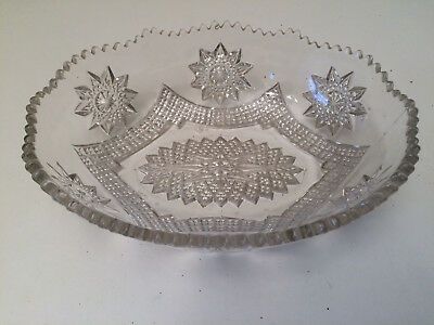 Clear patterned glass  fruit bowl candy dish