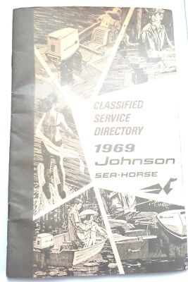 Orig Vintage 1969 JOHNSON Sea-Horse CLASSIFIED SERVICE DIRECTORY