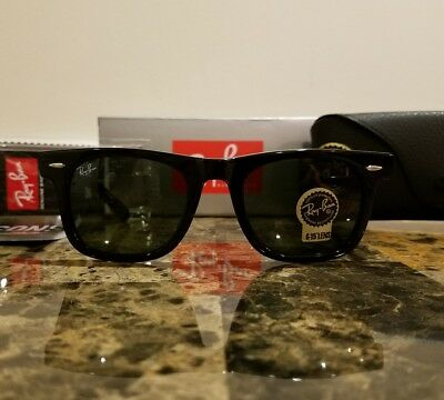 RAY-BAN RB2140 901 22 50MM Original Wayfarer Black Frame -  79.95 ... d681f12425