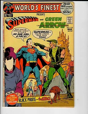 DC Comics World's Finest Superman and Green Arrow #210 March VF 8.0