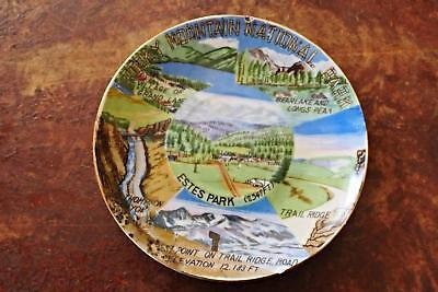 1960s ROCKY MT NATIONAL PARK CERAMIC STATE PLATE TRAVEL MEMORABILIA SIGHTSEEING