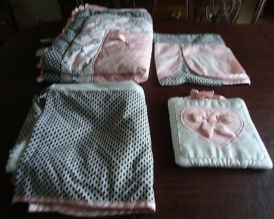 Lambs & Ivy Duchess Baby Nursery  4 Piece Crib Bedding Set, Girl Pink