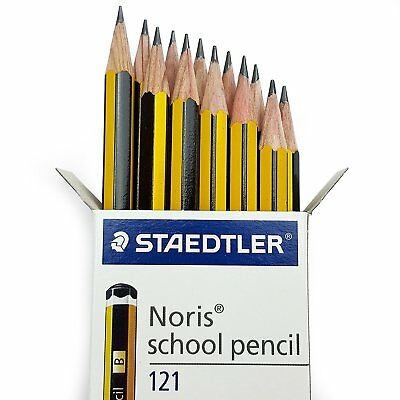 Staedtler Noris School Pencils Boxed, B 2B H 2H HB, Choose Grade/Pack Size