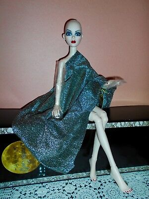 Tonner Evangeline Ghastly Midnight Lace & Roses Nude/bald New W/white Shipper