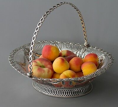 A Superb George III Silver Fruit or Bread Basket by Aldridge & Green London 1774
