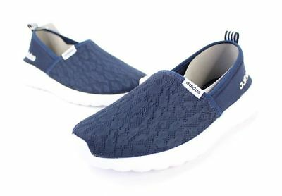 7fe79c06708 NEW SIZE 10 Adidas Neo Women s NAVY White Cloudfoam Lite Racer Slip On Shoes