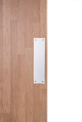 Polished Stainless Steel Door Push Plate 300x75mm