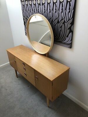 Schreiber classic 60's / 70's beech dressing table  - mid century vintage chic