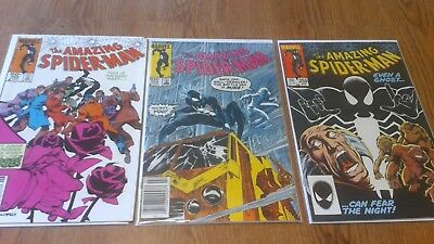 The Amazing Spider-Man #253 254 255 LOT (1984 Marvel) 1st App of Rose Red Ghost