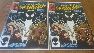 The Amazing Spider-Man #255  Set of 2 Marvel 1st App of Black Fox, Red Ghost NM