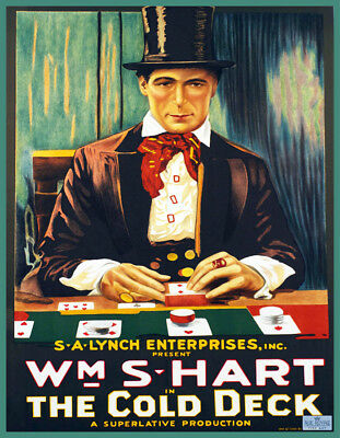 Decorative POSTER.Home room Interior art design.Cards Deck.Poker player.7097