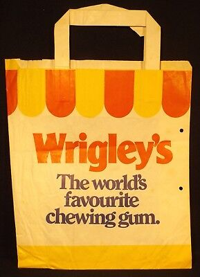1960's Wrigley's Chewing Gum Royal Show Paper Sample Bag Shop Advertising