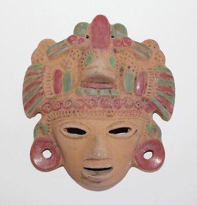 Decorative Ceramic Tribal Mask Precolombian or African