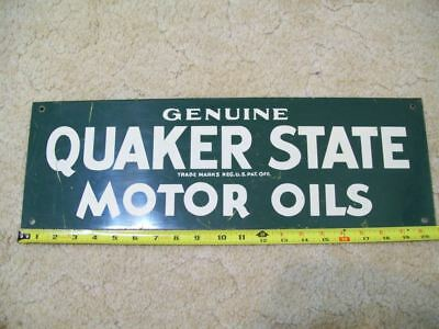 Quaker State sign for oil can rack original