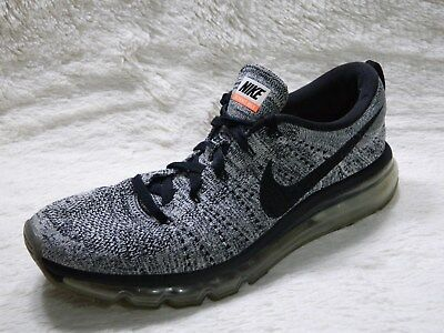 buy online 53323 c002a NIKE FLYKNIT MAX Oreo Mens Shoes Size 10.5 Black Gray Running Training FREE  S&H