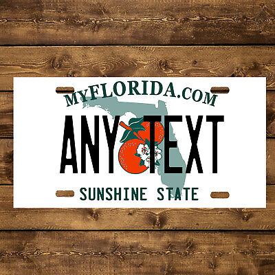 Florida Custom Aluminum Any Name Text Number Novelty Car License Plate