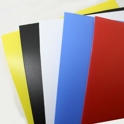 Coloured Polypropylene Plastic Sheet A5 A4 A3 0.5mm Model Making Arts DIY Crafts