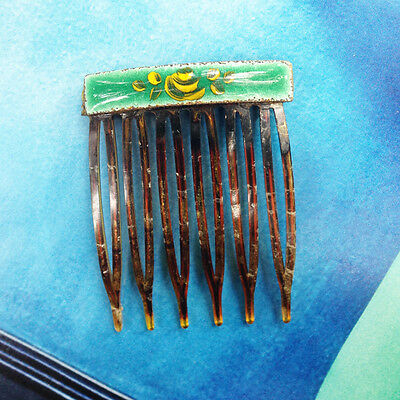* SALE! * Painted Enamel Hair Comb * PRETTY * SWEET * LOVELY!