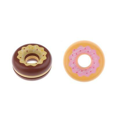 2pcs Wooden Magnet Connected Donut Pretend Cutting Food For Kids Children