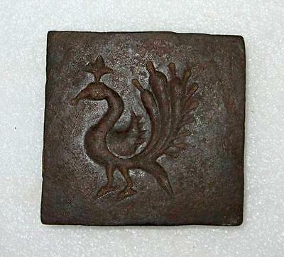 Antique Old Rare Unique Peacock Design Hand Engraved Iron DIE/MOLD for Jewelry