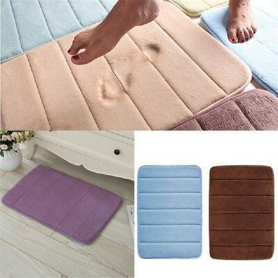 Soft Bath & Pedestal Mat 1 Piece Foot Print & Memory Foam Bath Mats Set Non Slip