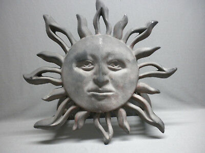 Vintage Sun Face Wall Decor Metal Sculpture Home & Garden Art
